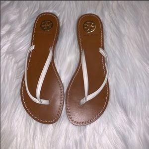 Tory Burch Abitha Flip Flops Sandals White Size 8